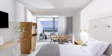 Dobbeltværelser med begrænset havudsigt på Hotel Aquila Porto Rethymno på Kreta, Grækenland