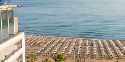 Stranden ved Hotel Aquila Porto Rethymno på Kreta, Grækenland