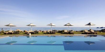 Poolområde på Hotel Aquila Rithymna Beach på Kreta, Grækenland