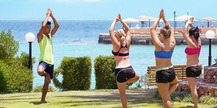 Yoga på Hotel Arabella Azur Resort, Hurghada, Egypten.