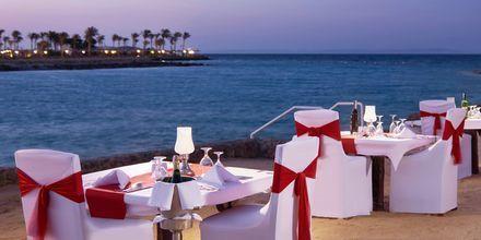 Romantisk middag ved havet på Hotel Arabella Azur Resort, Hurghada, Egypten.