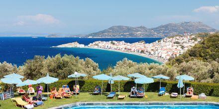Pool på Hotel Arion i Kokkari, Samos.