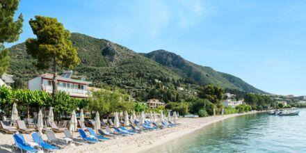 Stranden ved Hotel Armeno Beach på Lefkas, Grækenland.