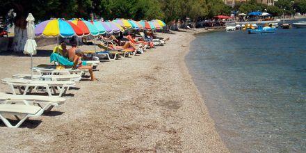Stranden ved Hotel Artemida på Leros, Grækenland.