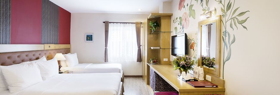 Deluxe-værelser på Asian Ruby Select i Saigon, Vietnam