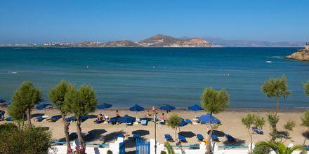 Stranden ved Hotel Asteria i Naxos by, Grækenland.