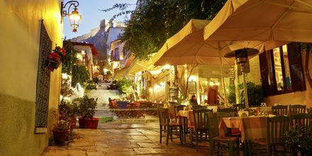 Restauranter i Plaka, Athen.