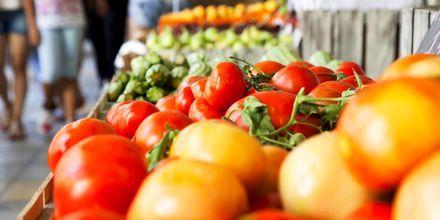 Frugtmarkedet i Athen.