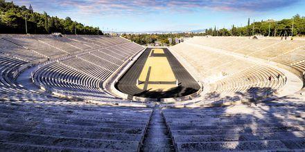 Panathinaiko-stadion i Athen, Grækenland. Her er de første olympiske lege afholdt i moderne tid.