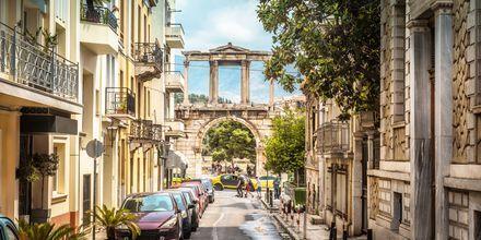 Seværdigheden Hadrianusbuen i Athen, Grækenland.