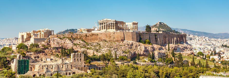 Klippen Akropolis og templet Parthenon i Athen, Grækenland.