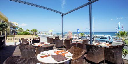 Restaurant på Atlantis Beach i Rethymnon på Kreta, Grækenland