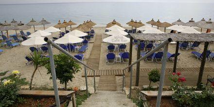 Stranden ved Hotel Atlon I Vrachos, Grækenland.