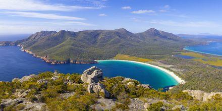 Wineglass Bay i Freycinet National Park, Tasmanien