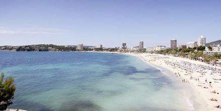 Udsigt fra Hotel Bahia Principe Coral Playa på Mallorca, Spanien