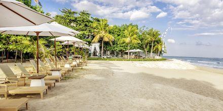 Stranden ved Bali Garden Beach Resort i Kuta, Bali.