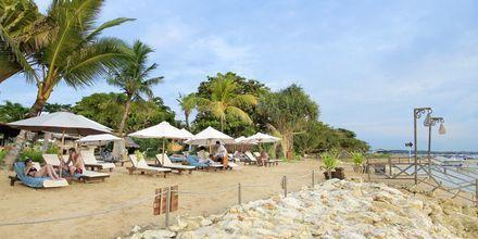 Stranden ved Bali Reef Resort i Tanjung, Benoa, Bali.