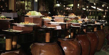 Buffetrestaurant på Bamboo Village Resort, Vietnam.