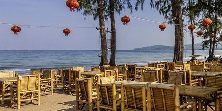 Strandrestaurant på Bangtao Beach på Phuket, Thailand