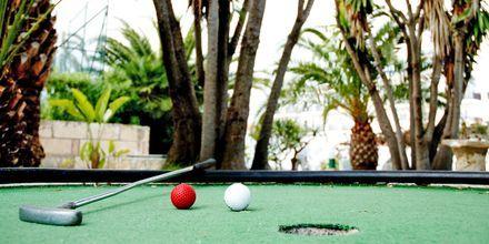 Minigolf på hotel Allegro Ponent Playa i Cala d'Or, Mallorca.