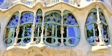 En af Gaudís mere kendte vinduespartier.