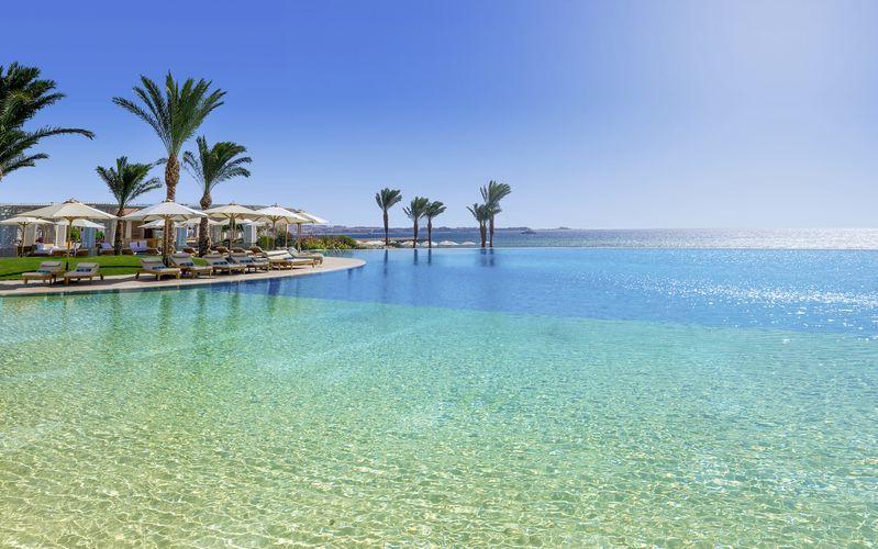Pool på Hotel Baron Palace Resort i Sahl Hasheesh, Egypten.
