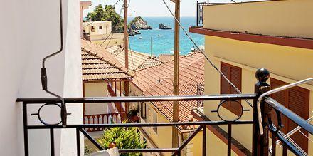 Udsigt fra Hotel Baywatch i Parga, Grækenland.