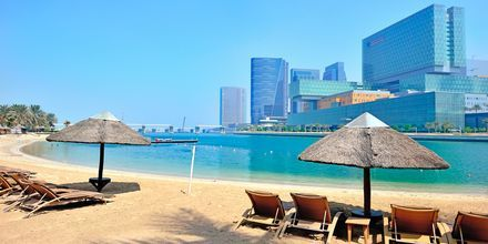 Stranden ved Hotel Beach Rotana Abu Dhabi, De Forenede Arabiske Emirater.