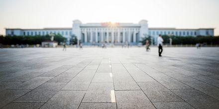 Tiananmen Square, eller Den Himmelske Freds Plads, i Beijing e et historisk torv.
