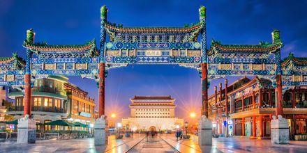 Beijing Zhengyang Gate, eller Qianmen, som det også kaldes, var byens sydlige byport under Mingdynastiet.