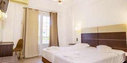 Renoveret dobbeltværelse på Hotel Bel Air på Lefkas, Grækenland.