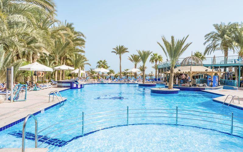 Poolområdet på hotel Bella Vista i Hurghada, Egypten