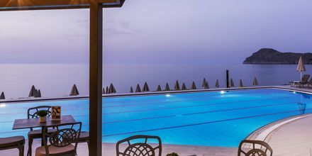 Poolområde på Hotel Blue Dome i Platanias, Kreta