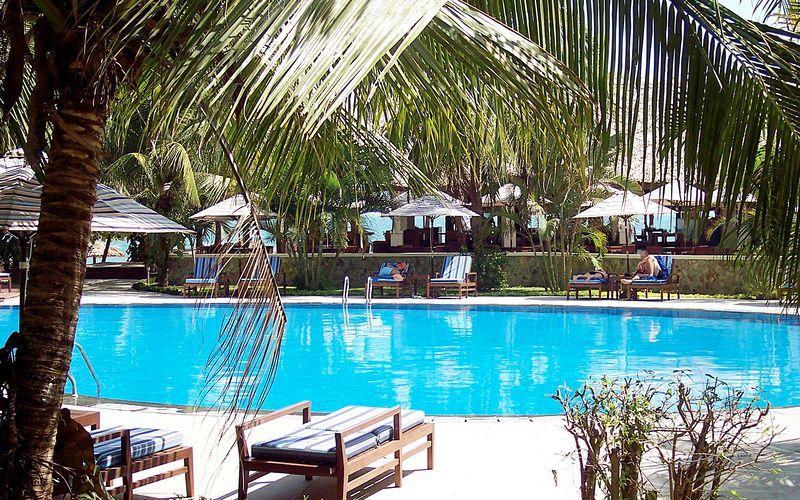 Poolen på Hotel Blue Ocean Resort i Phan Thiet i Vietnam.