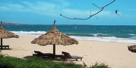 Stranden ved Hotel Blue Ocean Resort i Vietnam.