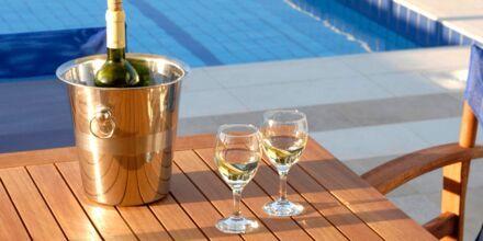 Privat pool på Hotel Blue Sea Villas i Platanias, Kreta