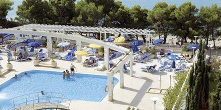 Poolområde på Hotel Bluesun Alga i Tucepi, Kroatien