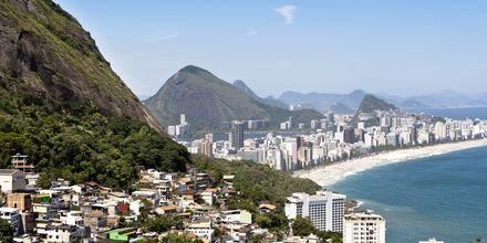 Stranden i Rio i Brasilien