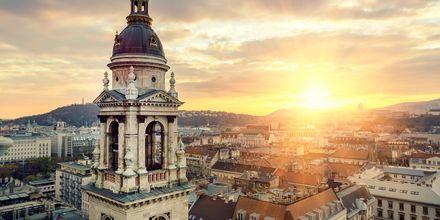 Solnedgang over Budapest.
