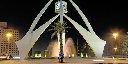 Klokketårnet i Deira nær Bur Dubai, De Forenede Arabiske Emirater.
