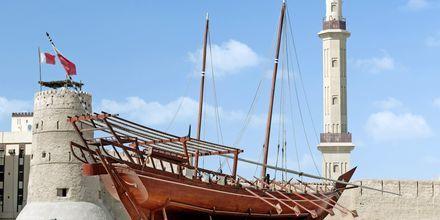 Dubai Museum og Al Fahidi-fortet i Bur Dubai, De Forenede Arabiske Emirater.