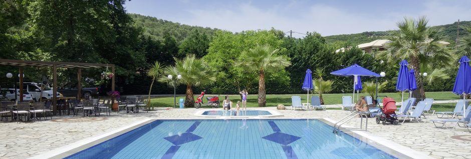 Pool på Hotel Byzantion i Parga, Grækenland.