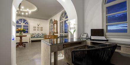 Lobby på Caldera's Dolphin Suites på Santorini, Grækenland.
