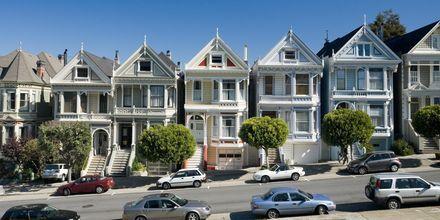 Den smukke arkitektur i San Francisco i Californien, USA.