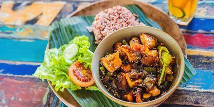 Klassisk mad på Bali.