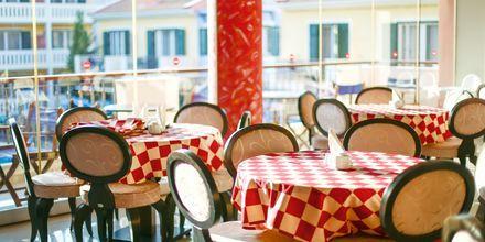 Morgenmadsområde på Captain Stavros på Lefkas i Grækenland.