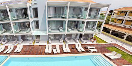 Nybygget hotelbygning på Captain Stavros på Lefkas i Grækenland.