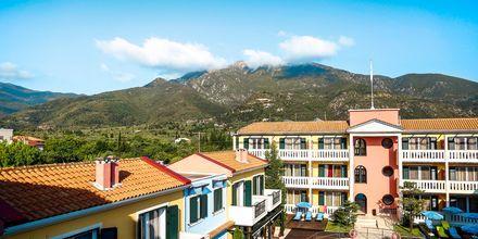 Poolområde på Captain Stavros på Lefkas i Grækenland.