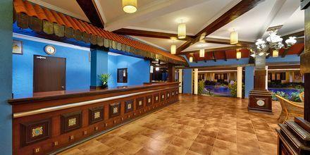 Lobby på Casa de Goa, Goa i Indien.