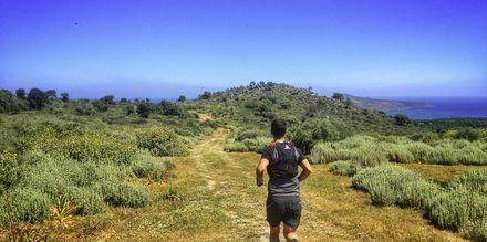 Forskellige løbestier ved Giannoulis Cavo Spada Deluxe & Spa på Kreta, Grækenland.
